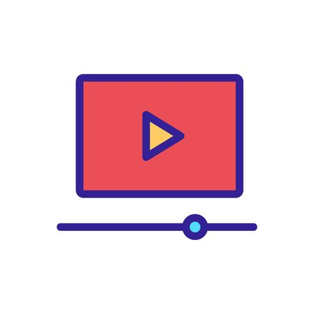 view the video icon vector. view the video sign. color isolated symbol illustration 向量圖像