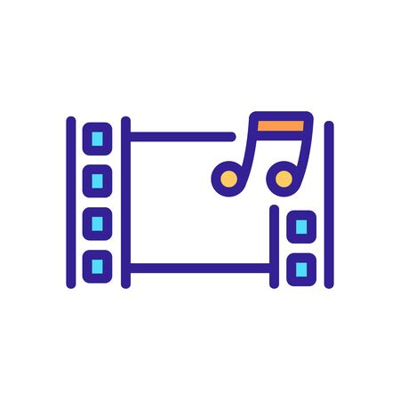 audio installation icon vector. audio installation sign. color isolated symbol illustration 向量圖像