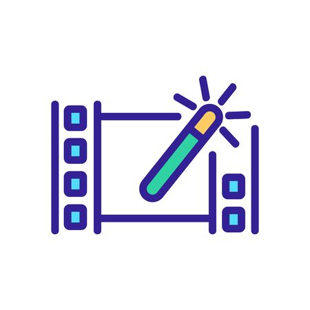 setup video icon vector. setup video sign. color isolated symbol illustration