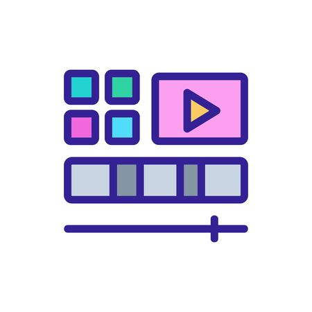 video editing icon vector. video editing sign. color isolated symbol illustration 版權商用圖片 - 143022891