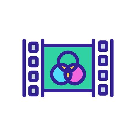 video editor icon vector. video editor sign. color isolated symbol illustration