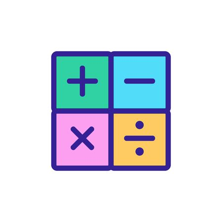 math calculator icon vector. math calculator sign. color isolated symbol illustration