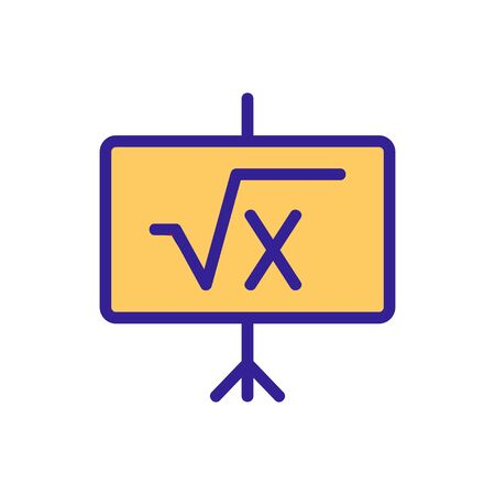 exercise math icon vector. exercise math sign. color isolated symbol illustration