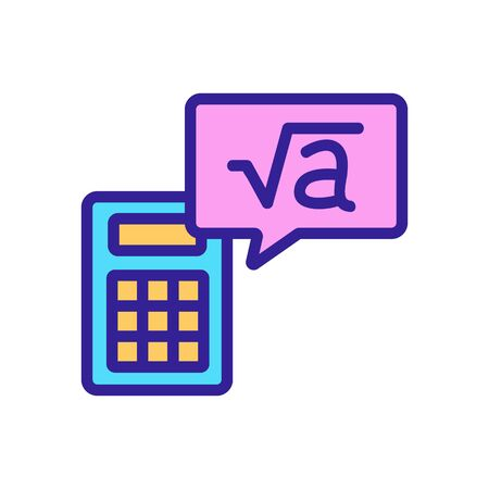 calculator root icon vector. calculator root sign. color isolated symbol illustration