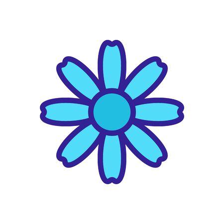 autumn chrysanthemum icon vector. autumn chrysanthemum sign. color isolated symbol illustration Çizim