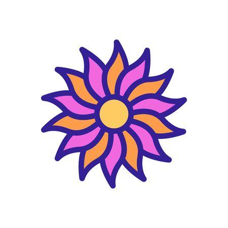 beautiful chrysanthemum icon vector. beautiful chrysanthemum sign. color isolated symbol illustration