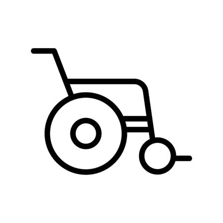 wheelchair icon vector. wheelchair sign. isolated contour symbol illustration