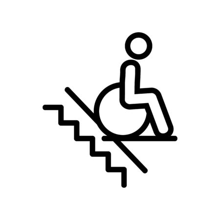 man wheelchair icon vector. man wheelchair sign. isolated contour symbol illustration