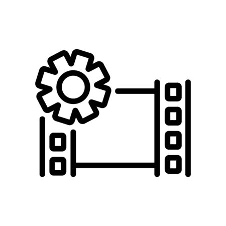 setup video icon vector. setup video sign. isolated contour symbol illustration