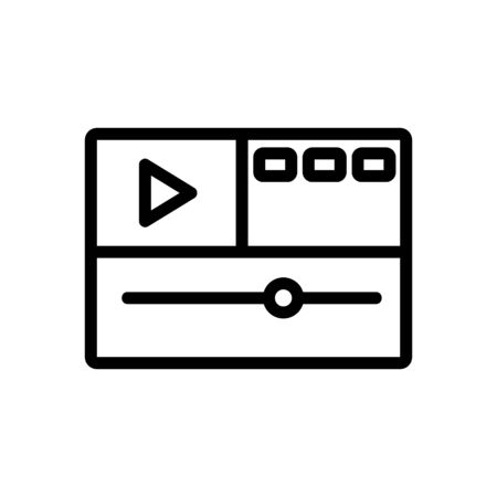 video montage icon vector. video montage sign. isolated contour symbol illustration 向量圖像