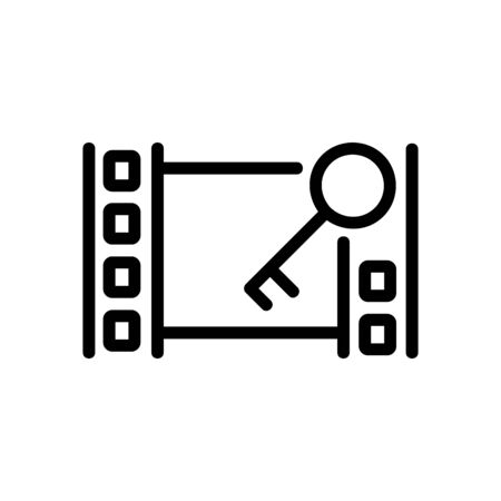 installation video icon vector. installation video sign. isolated contour symbol illustration