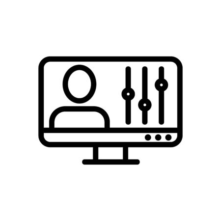 video processing icon vector. video processing sign. isolated contour symbol illustration