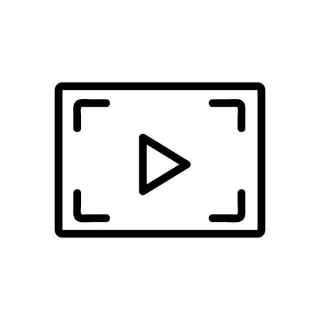 video processing icon vector. video processing sign. isolated contour symbol illustration 版權商用圖片 - 143022312