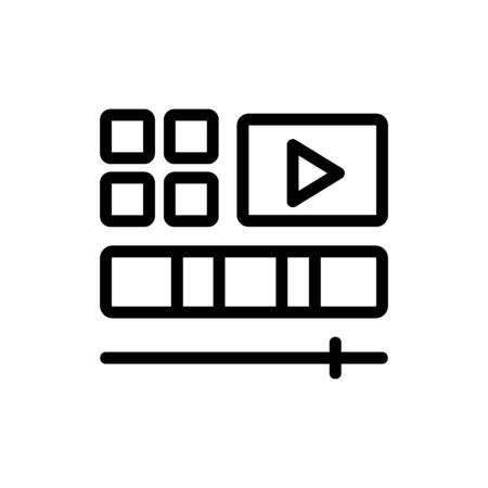 video editing icon vector. video editing sign. isolated contour symbol illustration