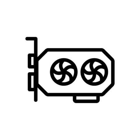 modern graphics card icon vector. modern graphics card sign. isolated contour symbol illustration
