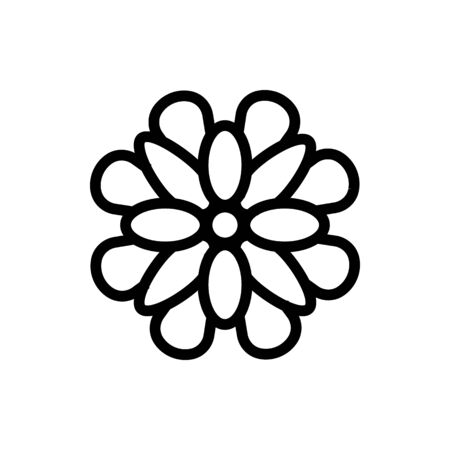 plant chrysanthemum icon vector. plant chrysanthemum sign. isolated contour symbol illustration