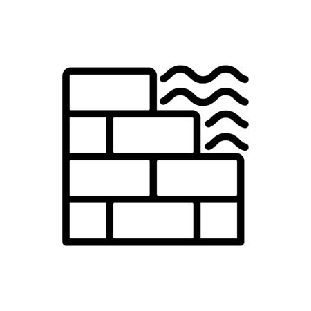 tiles on the road icon vector. tiles on the road sign. isolated contour symbol illustration