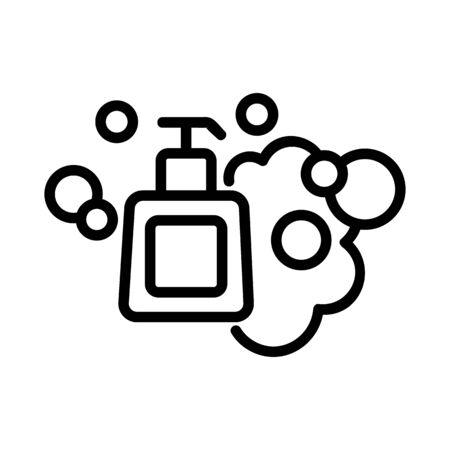 shampoo bath icon vector. shampoo bath sign. isolated contour symbol illustration