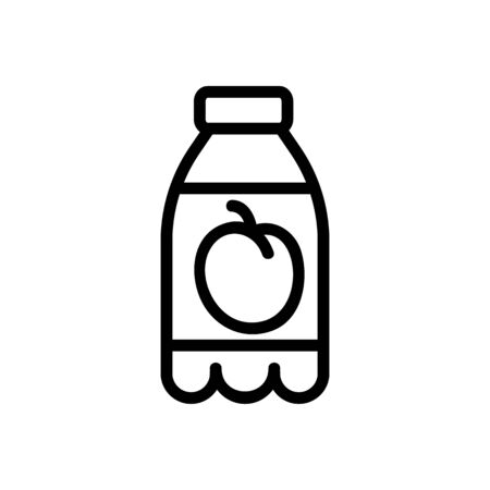 plum drink icon vector. plum drink sign. isolated contour symbol illustration