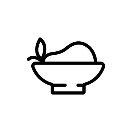 pear plate icon vector. pear plate sign. isolated contour symbol illustration Ilustração
