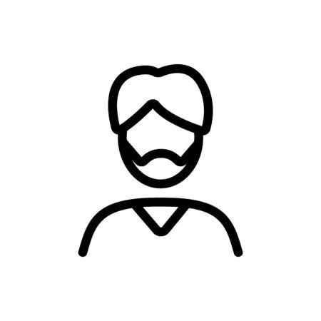 Arab male icon vector. Arab male sign. isolated contour symbol illustration Çizim