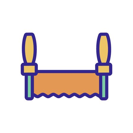 the saw of a carpenter icon vector. the saw of a carpenter sign. color isolated symbol illustration Ilustracja