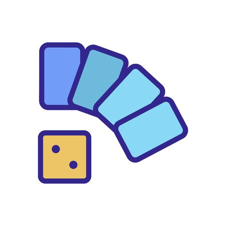 game cards dice icon vector. game cards dice sign. color isolated symbol illustration Ilustração