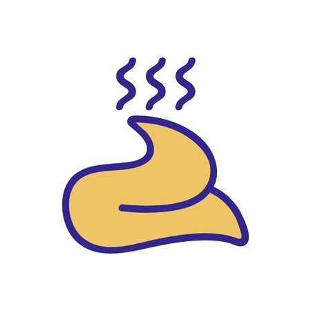 the soft shit stinks icon vector. the soft shit stinks sign. color isolated symbol illustration Illustration