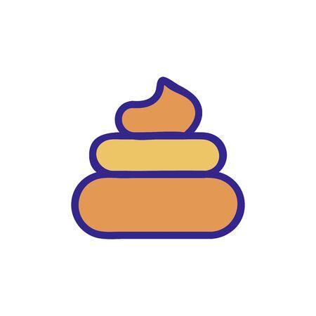 turd icon vector. turd sign. color isolated symbol illustration Illustration