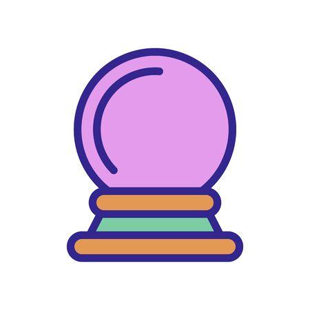 magic ball icon vector. magic ball sign. color isolated symbol illustration
