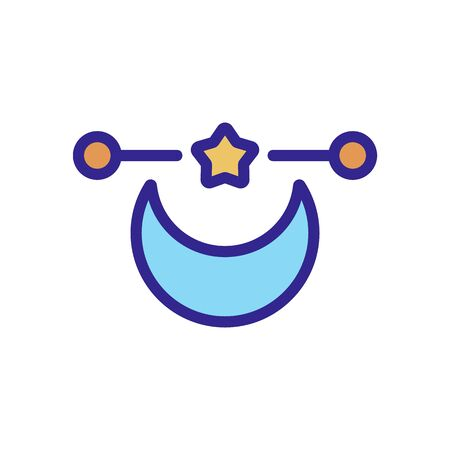 moon magic icon vector. moon magic sign. color isolated symbol illustration
