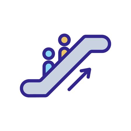 the metro escalator up icon vector. the metro escalator up sign. color isolated symbol illustration 矢量图像
