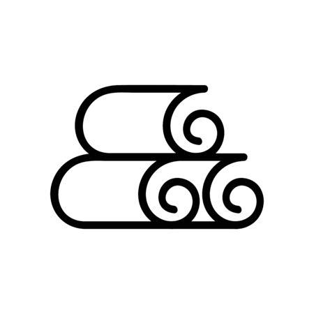nori sheets icon vector. nori sheets sign. isolated contour symbol illustration