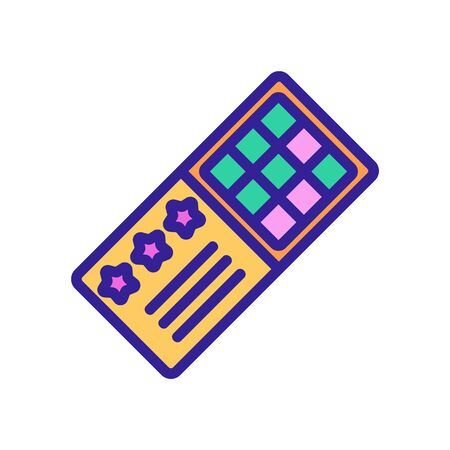 bingo lottery icon vector. bingo lottery sign. color contour symbol illustration
