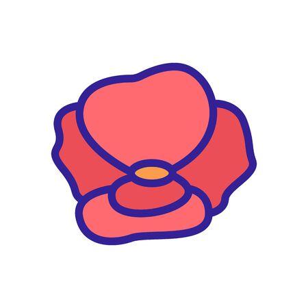 poppy plant icon vector. poppy plant sign. color contour symbol illustration