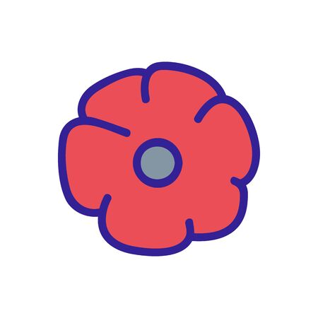 the poppy plant flower icon vector. the poppy plant flower sign. color contour symbol illustration 向量圖像