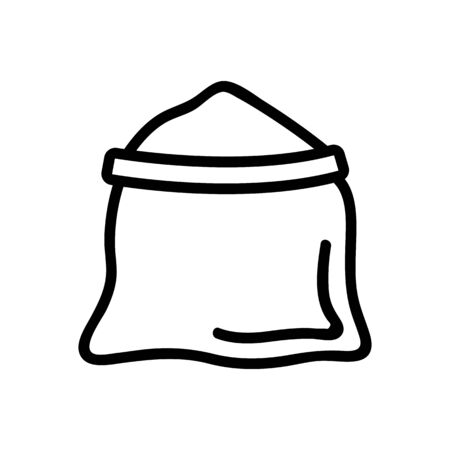 open bag of salt icon vector. open bag of salt sign. isolated contour symbol illustration