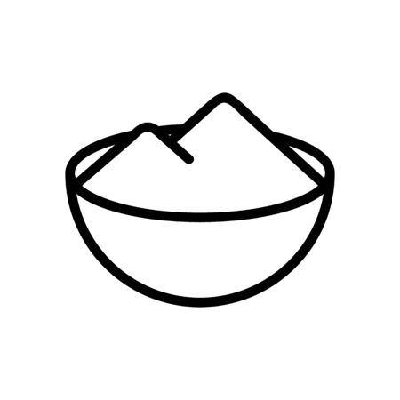 bowl of salt icon vector. bowl of salt sign. isolated contour symbol illustration Vettoriali