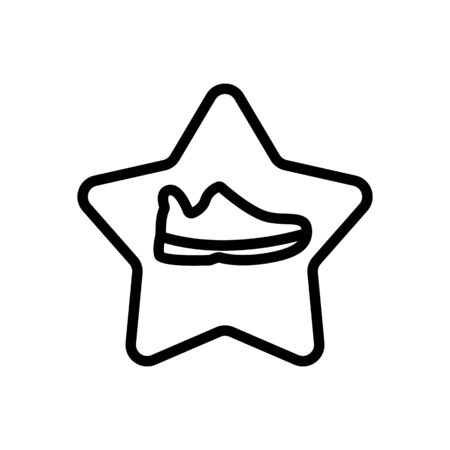 star popular shoes icon vector. star popular shoes sign. isolated contour symbol illustration