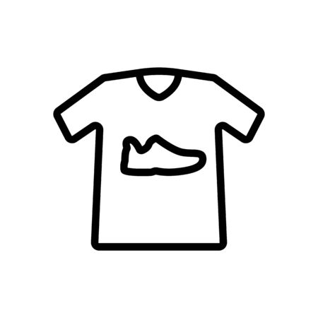 sneaker print t shirt icon vector. sneaker print t shirt sign. isolated contour symbol illustration