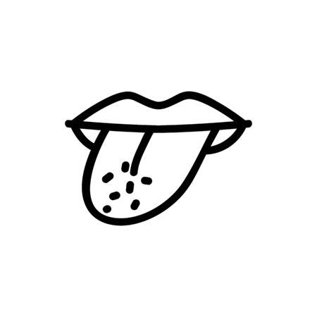 try salt on tongue icon vector. try salt on tongue sign. isolated contour symbol illustration