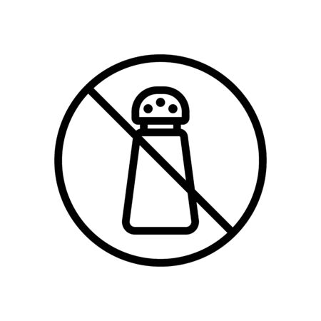 salt ban icon vector. salt ban sign. isolated contour symbol illustration