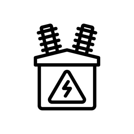 electric distributor icon vector. electric distributor sign. isolated contour symbol illustration