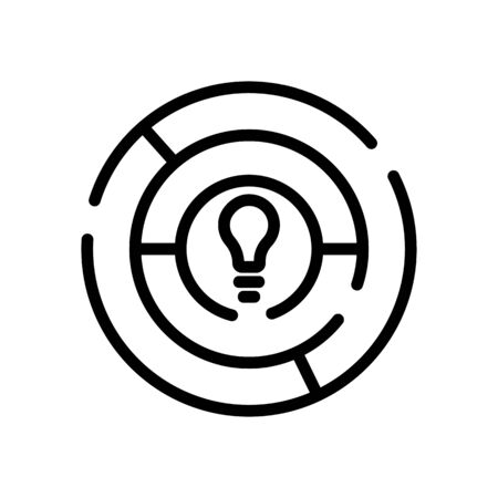 find solution icon vector. find solution sign. isolated contour symbol illustration