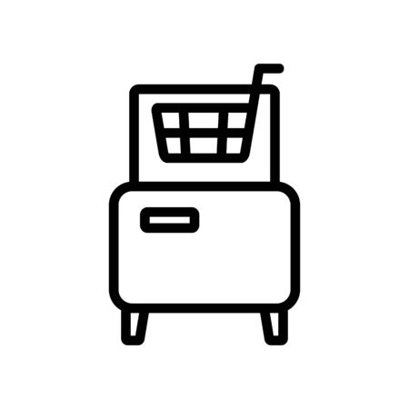 fryer front view icon vector. fryer front view sign. isolated contour symbol illustration Illustration
