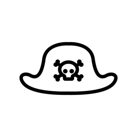 pirate hat icon vector. pirate hat sign. isolated contour symbol illustration Illustration