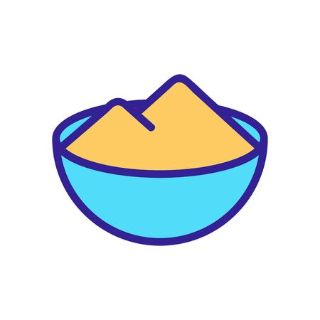 bowl of salt icon vector. bowl of salt sign. color symbol illustration