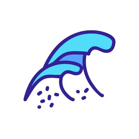 salt waves icon vector. salt waves sign. color symbol illustration