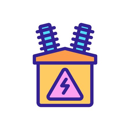 electric distributor icon vector. electric distributor sign. color symbol illustration