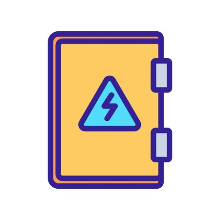 protective electric shield icon vector. protective electric shield sign. color symbol illustration